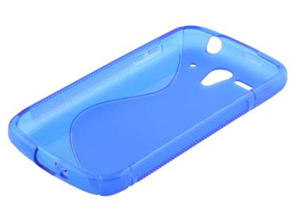 Huawei Ascend G300 Wave Case - Frosted Blue/Blue