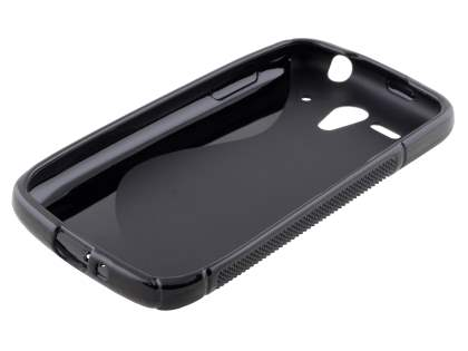 Wave Case for Huawei Ascend G300 - Frosted Black/Black