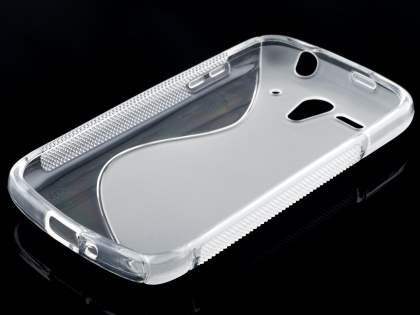 Wave Case for Huawei Ascend G300 - Frosted Clear/Clear