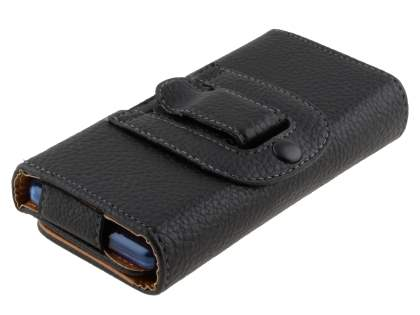 Textured Synthetic Leather Belt Pouch (Bumper Case Compatible) for Samsung Galaxy S Duos S7562