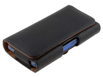 Textured Synthetic Leather Belt Pouch (Bumper Case Compatible) for HTC One Mini M4
