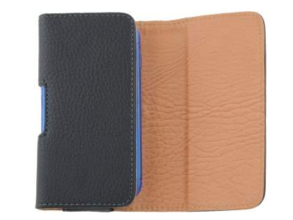 Textured Synthetic Leather Belt Pouch (Bumper Case Compatible) for Samsung Galaxy S4 mini