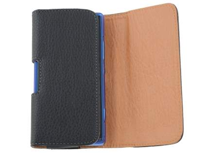 Textured Synthetic Leather Belt Pouch (Bumper Case Compatible) for Sony Xperia SP M35