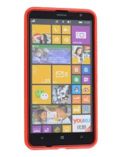 Nokia Lumia 1320 Wave Case - Frosted Red/Red