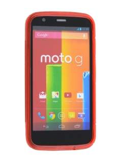 Motorola Moto G Wave Case - Frosted Red/Red