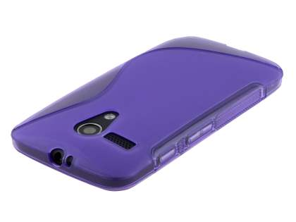 Motorola Moto G Wave Case - Frosted Purple/Purple