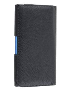 Nokia Lumia 1320 Synthetic Leather Belt Pouch (Bumper Case Compatible) - Classic Black Belt Pouch