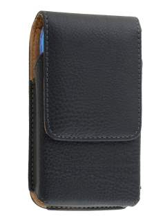 Textured Synthetic Leather Vertical Belt Pouch (Bumper Case Compatible) for Samsung Galaxy S4 mini - Belt Pouch