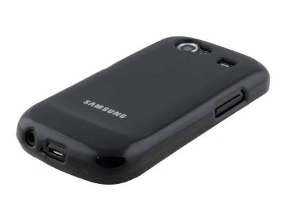 Frosted Colour TPU Gel Case for Samsung I9023 Google Nexus S - Black