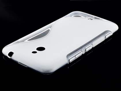 Wave Case for Nokia Lumia 1320 - Frosted Clear/Clear