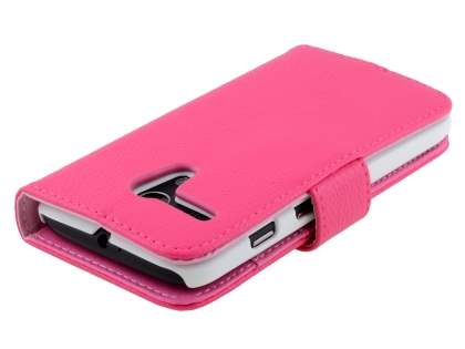 Synthetic Leather Wallet Case with Stand for Motorola Moto G - Pink