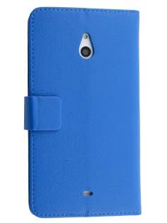 Nokia Lumia 1320 Slim Synthetic Leather Wallet Case with Stand - Blue