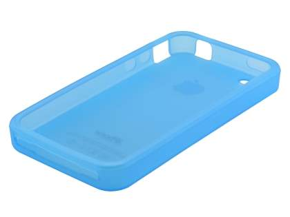 Frosted TPU Gel Case for iPhone 4S/4 - Frosted Blue