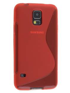 Samsung Galaxy S5 Wave Case - Frosted Red/Red