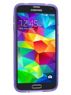 Wave Case for Samsung Galaxy S5 - Frosted Purple/Purple