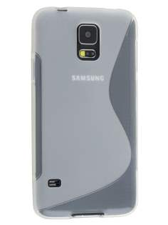 Wave Case for Samsung Galaxy S5 - Frosted Clear/Clear Soft Cover
