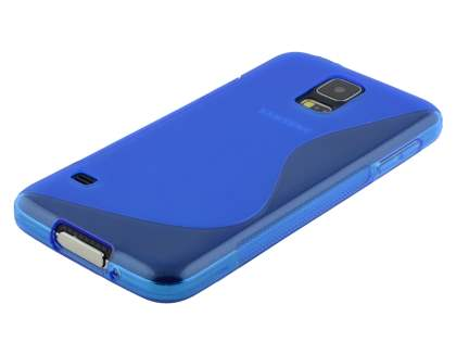 Samsung Galaxy S5 Wave Case - Frosted Blue/Blue