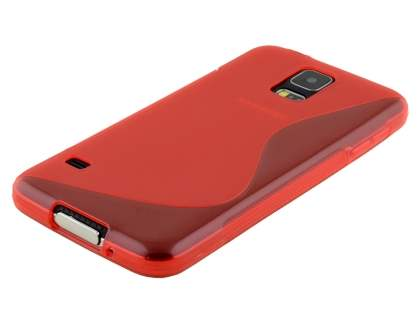 Wave Case for Samsung Galaxy S5 - Frosted Red/Red