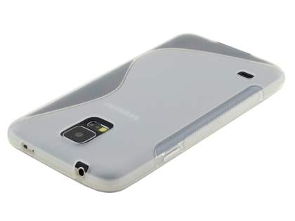 Samsung Galaxy S5 Wave Case - Frosted Clear/Clear