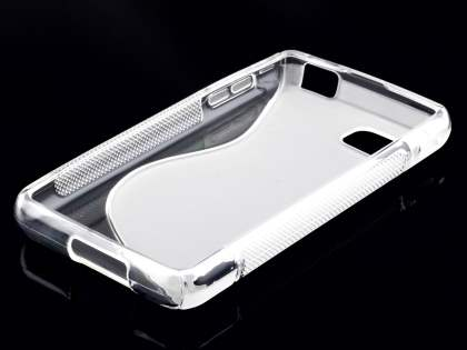 LG Optimus F3 Wave Case - Frosted Clear/Clear
