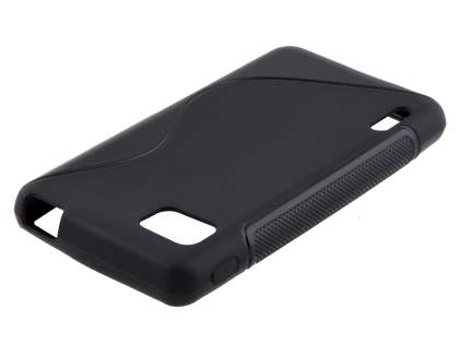 Wave Case for LG Optimus F3 - Frosted Black/Black