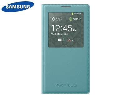Genuine Samsung Galaxy Note 3 S-View Premium Cover Case - Regent St Blue