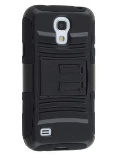 Samsung I9195T Galaxy S4 mini Rugged Case with Holster Belt Clip - Classic Black