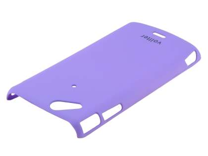 Vollter Ultra Slim Rubberised Case plus Screen Protector for Sony Ericsson XPERIA Arc/Arc S - Purple