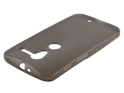 Frosted Colour TPU Gel Case for Motorola Moto X XT1058 - Frosted Grey Soft Cover