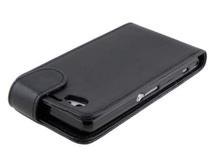 Sony Xperia Z1 Compact Synthetic Leather Flip Case - Classic Black