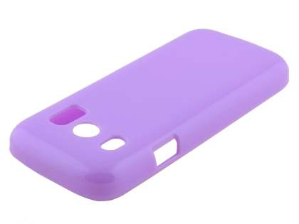 Frosted Colour TPU Gel Case for ZTE Telstra T96 - Purple Soft Cover