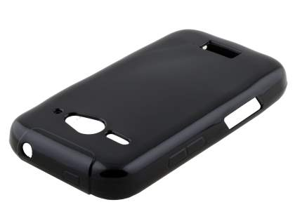 Frosted Colour TPU Gel Case for ZTE T83 Telstra Dave - Classic Black Soft Cover