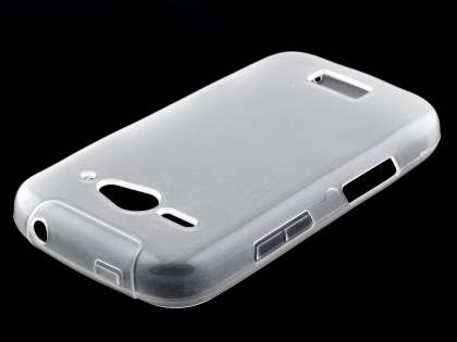 ZTE T83 Telstra Dave Frosted Colour TPU Gel Case - Frosted Clear