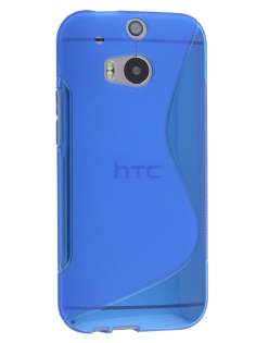 HTC One M8 Wave Case - Frosted Blue/Blue