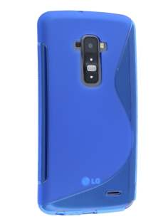 Wave Case for LG G Flex - Frosted Blue/Blue Soft Cover