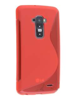 Wave Case for LG G Flex - Frosted Red/Red Soft Cover