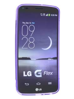 LG G Flex Wave Case - Frosted Purple/Purple