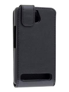Sony Xperia E1 Synthetic Leather Flip Case - Classic Black