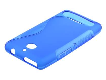 Wave Case for Sony Xperia E1 - Frosted Blue/Blue Soft Cover