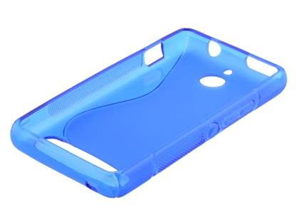 Sony Xperia E1 Wave Case - Frosted Blue/Blue