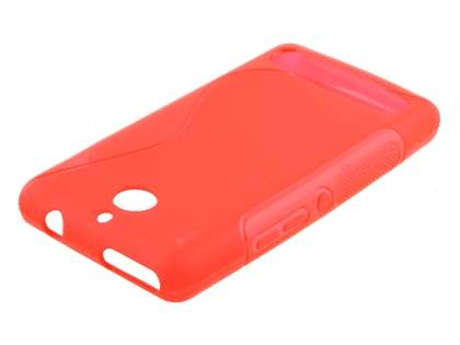 Wave Case for Sony Xperia E1 - Frosted Red/Red Soft Cover