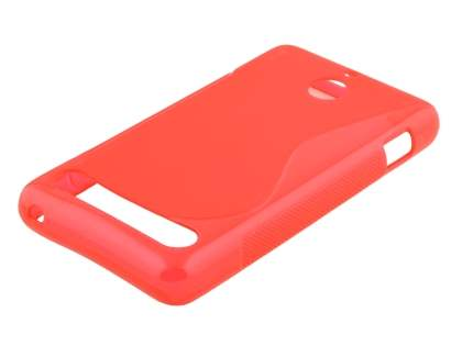 Sony Xperia E1 Wave Case - Frosted Red/Red