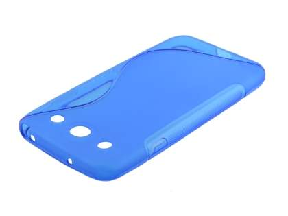 Wave Case for LG Optimus G Pro E985 - Frosted Blue/Blue Soft Cover