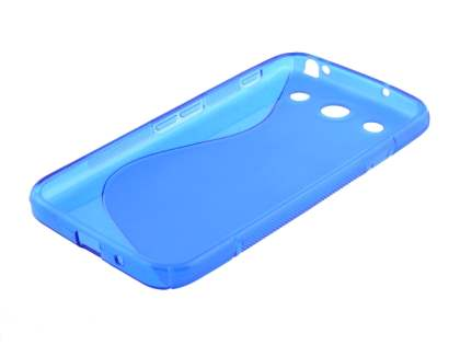 Wave Case for LG Optimus G Pro E985 - Frosted Blue/Blue