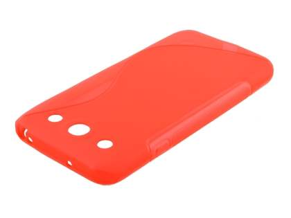 Wave Case for LG Optimus G Pro E985 - Frosted Red/Red Soft Cover