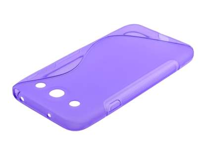 Wave Case for LG Optimus G Pro E985 - Frosted Purple/Purple Soft Cover