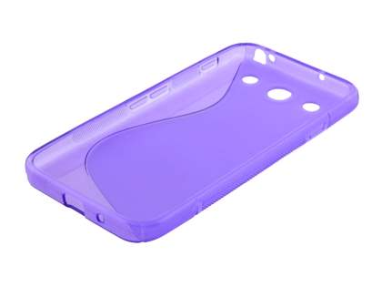 Wave Case for LG Optimus G Pro E985 - Frosted Purple/Purple