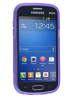 Samsung Galaxy Fresh S7390 Wave Case - Frosted Purple/Purple
