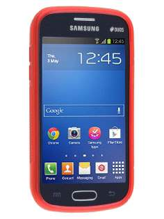 Wave Case for Samsung Galaxy Fresh S7390 - Frosted Red/Red