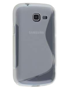 Wave Case for Samsung Galaxy Fresh S7390 - Frosted Clear/Clear